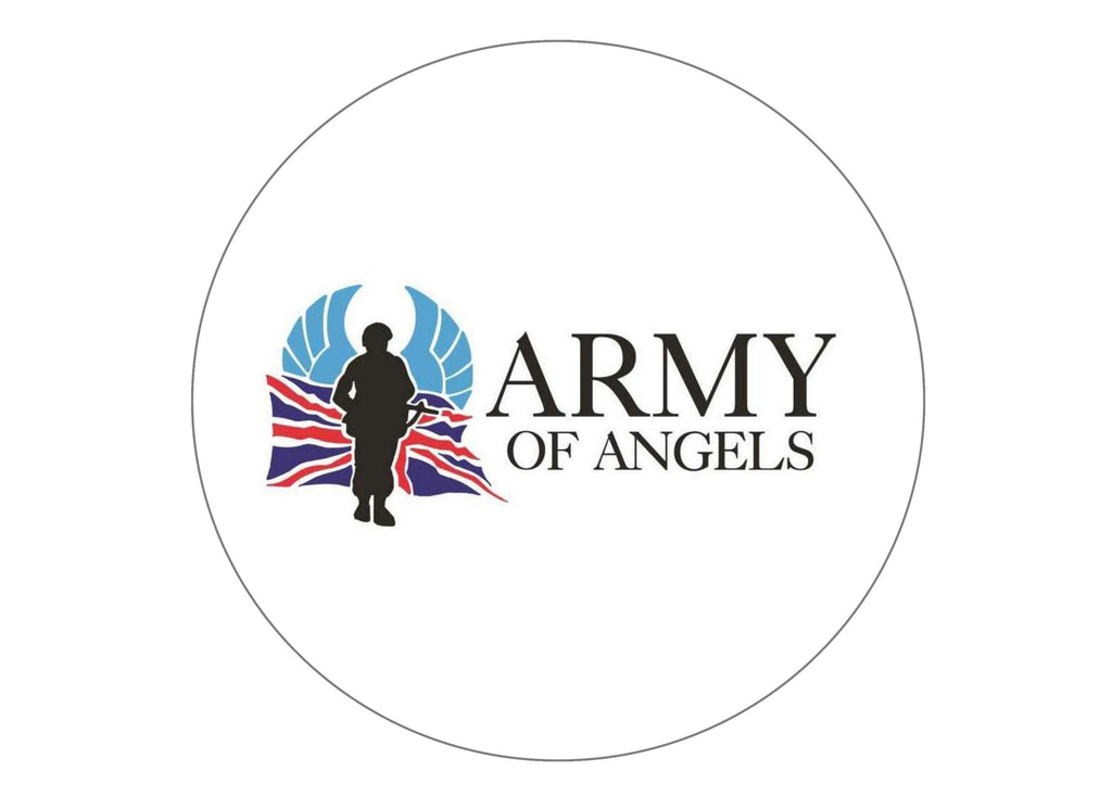 190mm edible printed cake toppers in support of Army of Angels.