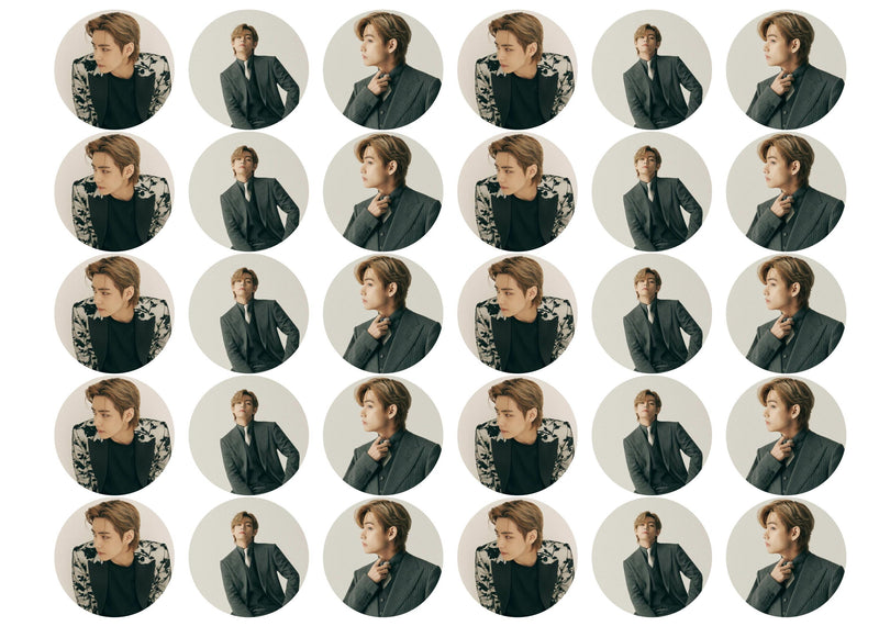 30 edible cupcake toppers with Kim Tae-hyung from BTS and his