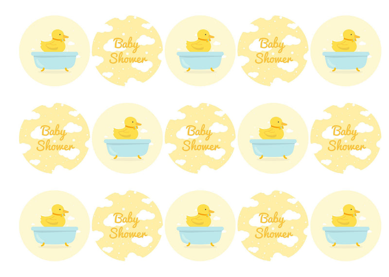 Baby Shower - Yellow Chick-Edible cake toppers-Edibilis