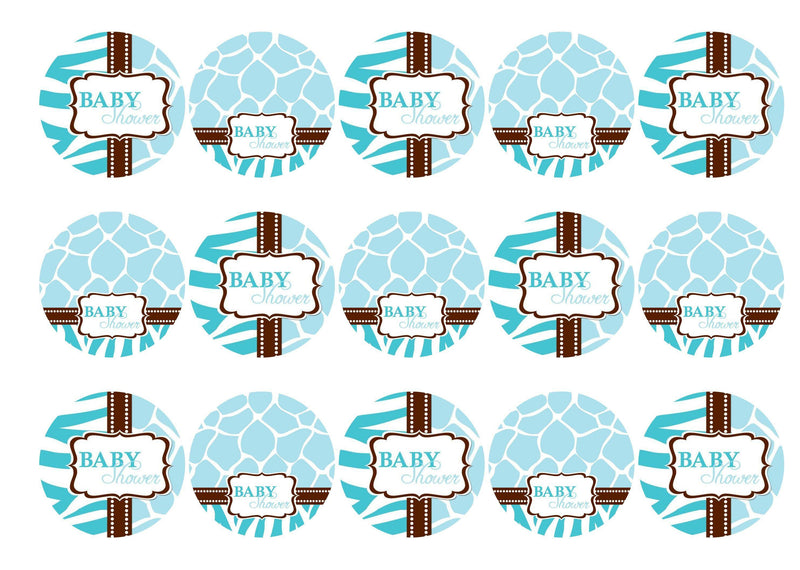 Printed edible cupcake toppers - 50mm