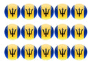 50mm printed edible cupcake toppers - Barbados