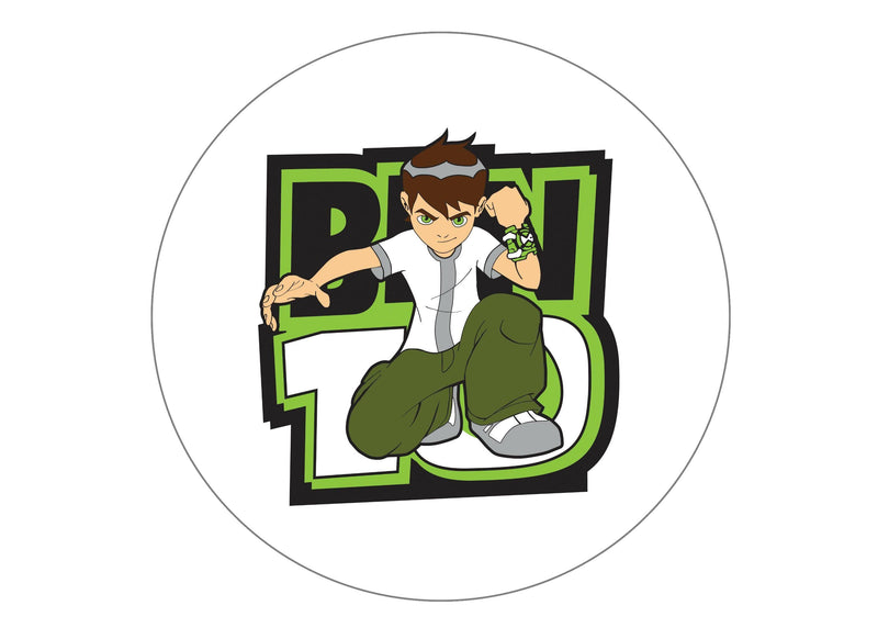 Printed edible cake topper with Ben 10 image