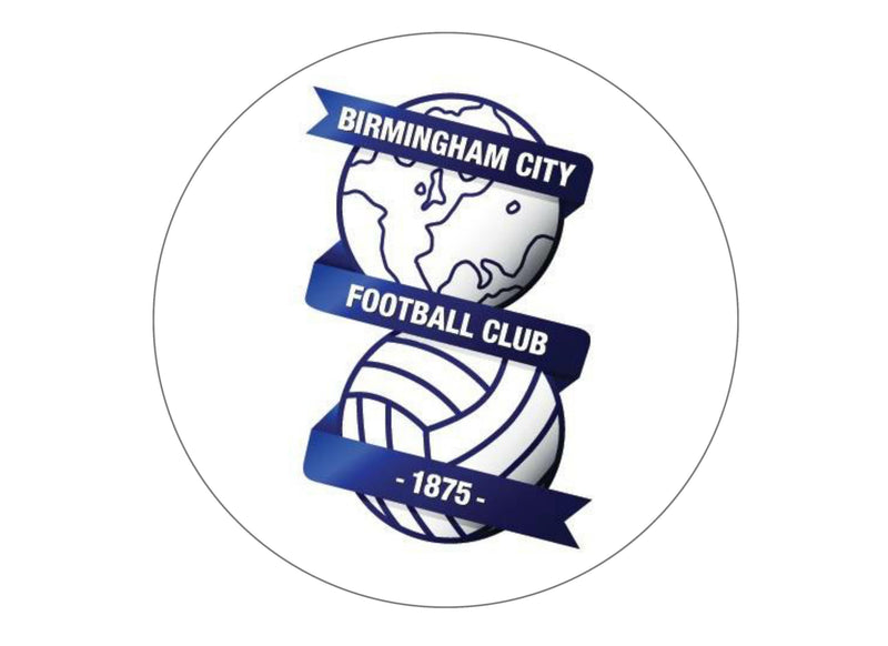 large cake topper with Birmingham City FC badge