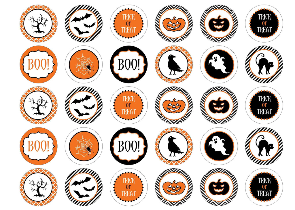 Edible printed cupcake toppers for halloween