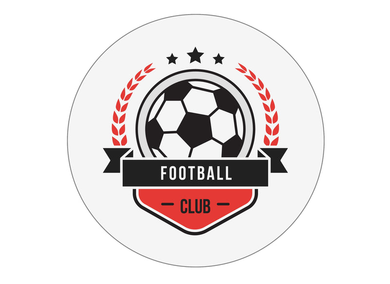 Black and Red Football badges-Edible cake toppers-Edibilis