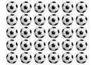 30 edible cupcake toppers with a black and white football