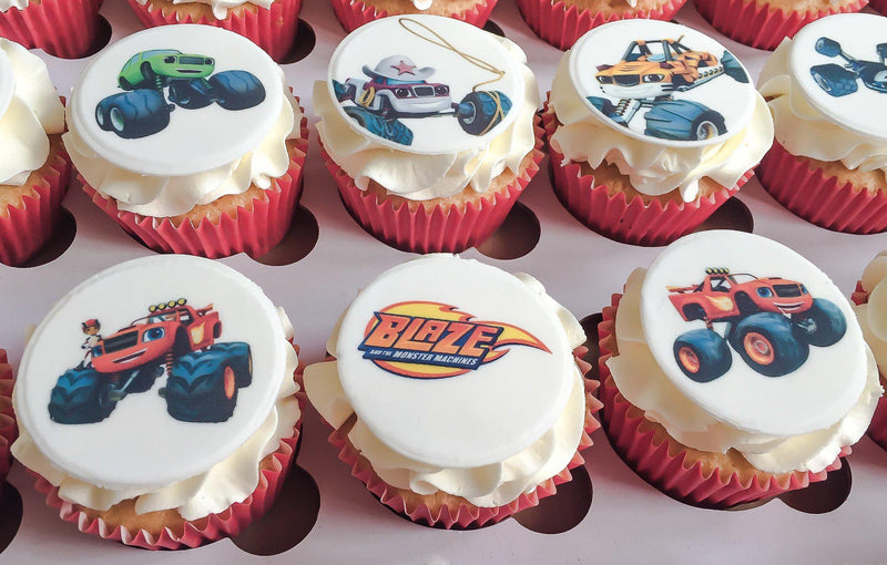 Blaze and the Monster Machine Printed Cupcake Toppers