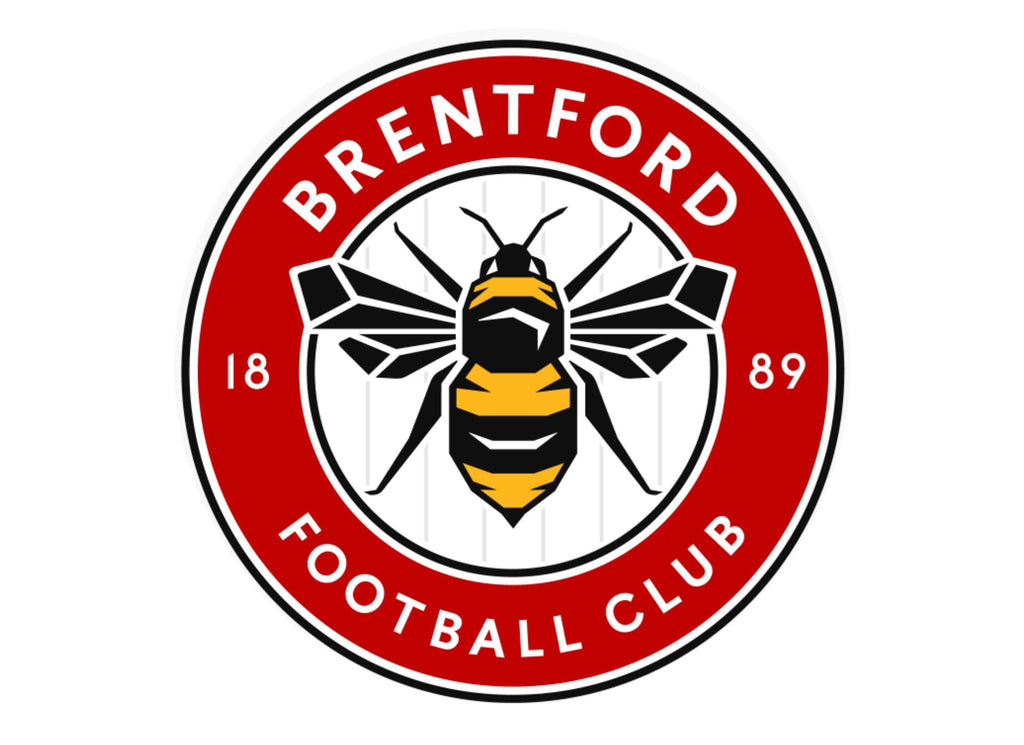 Large Printed cake topper with the new Brentford Football Crest