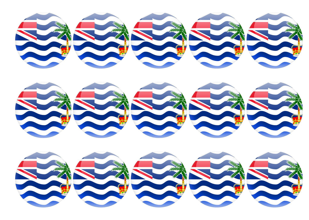 50mm printed edible cupcake toppers - British Indian Ocean Territory