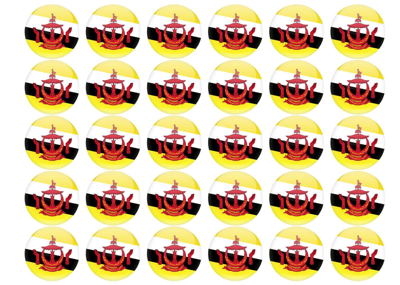 38mm printed edible cupcake toppers - Brunei