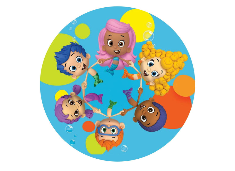 Printed edible cake topper with Bubble Guppies