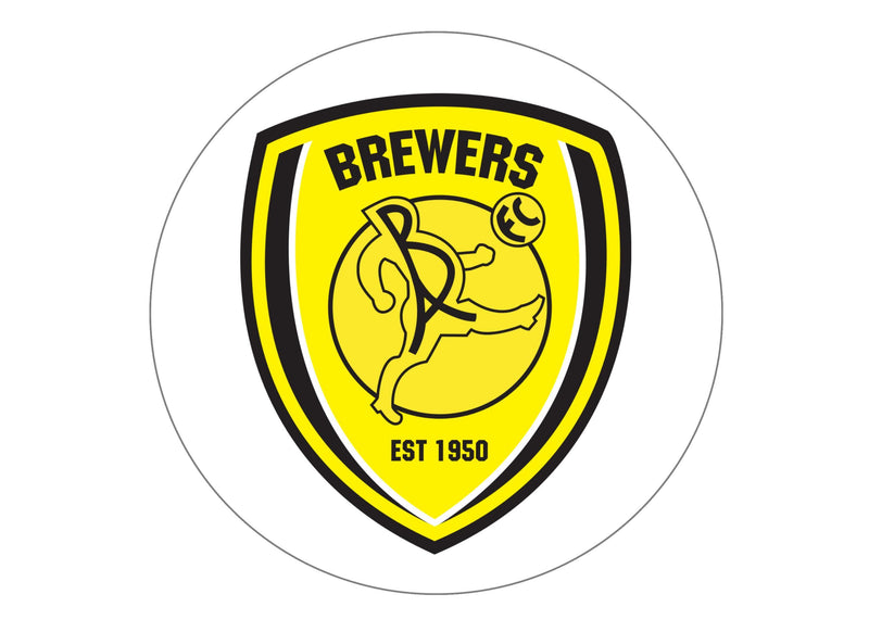 Large Printed cake topper with the Burton Albion Football Crest