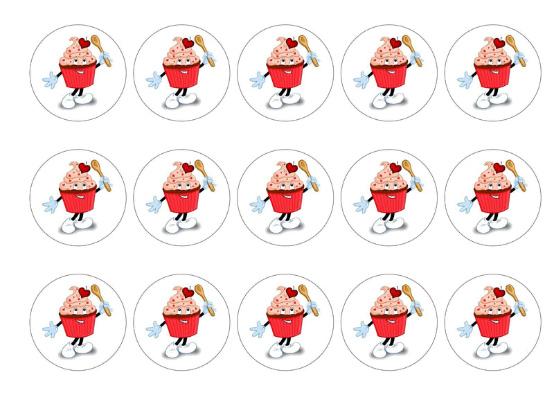 Printed edible cake toppers and cupcake toppers with the charity cupcake logo for CRY (Cardiac Risk in the Young)