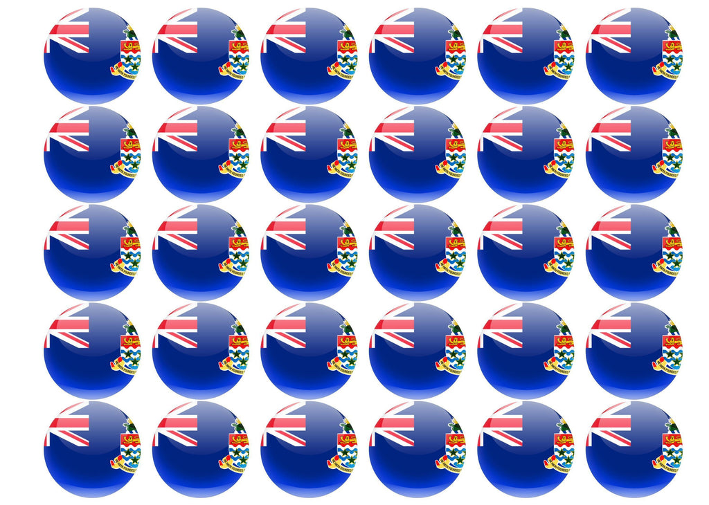 38mm printed edible cupcake toppers - Cayman Islands