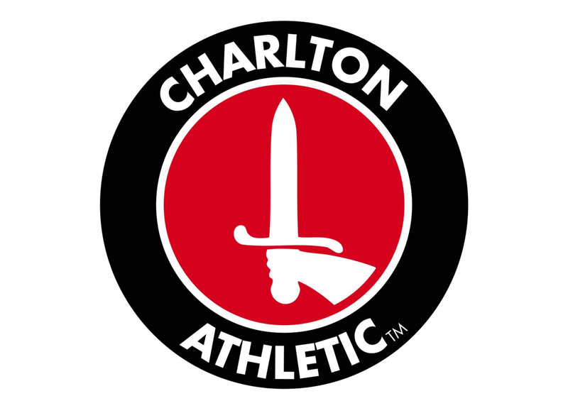 Large cake topper with the Charlton Athletic badge
