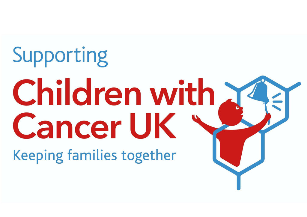 A4 printed cake topper for supporting Children with Cancer UK