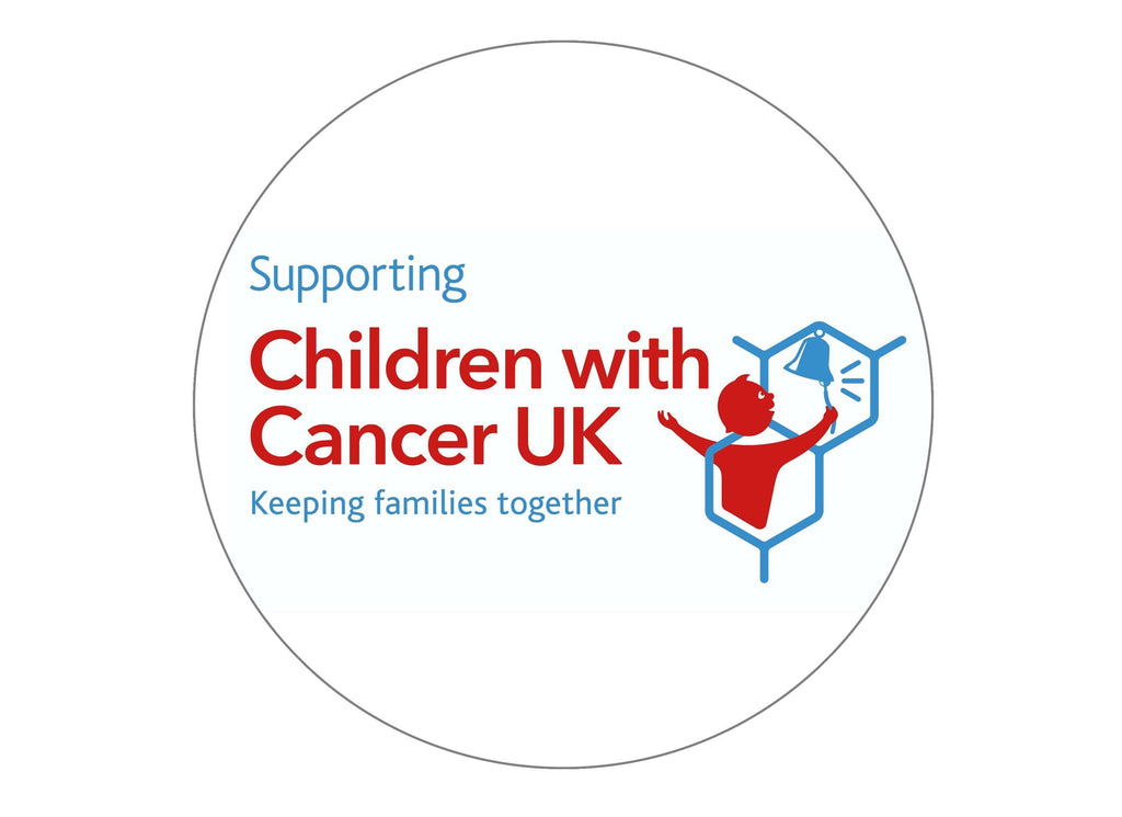 Large cake topper for supporting Children with Cancer UK