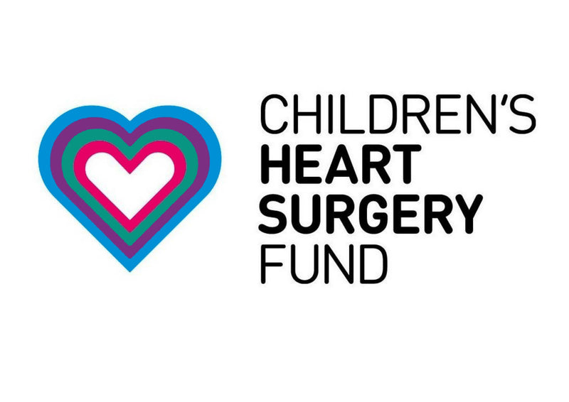 A4 cake topper supporting the Children's Heart Surgery Trust