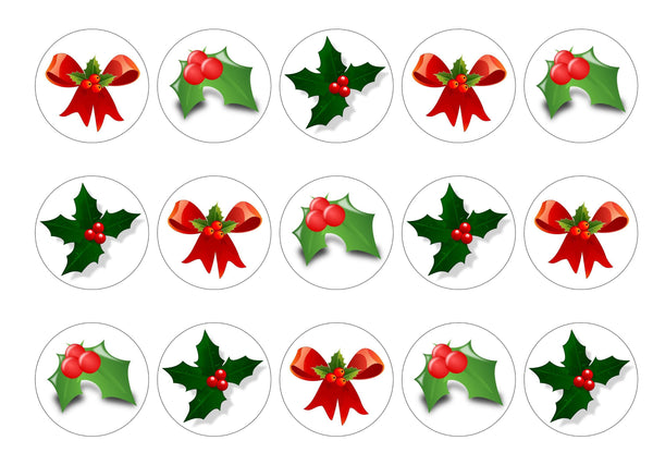 Christmas Holly-Edible cake toppers-Edibilis