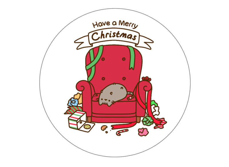 Printed Christmas Pusheen large caket topper