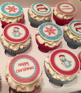 Christmas My Cupcake Toppers