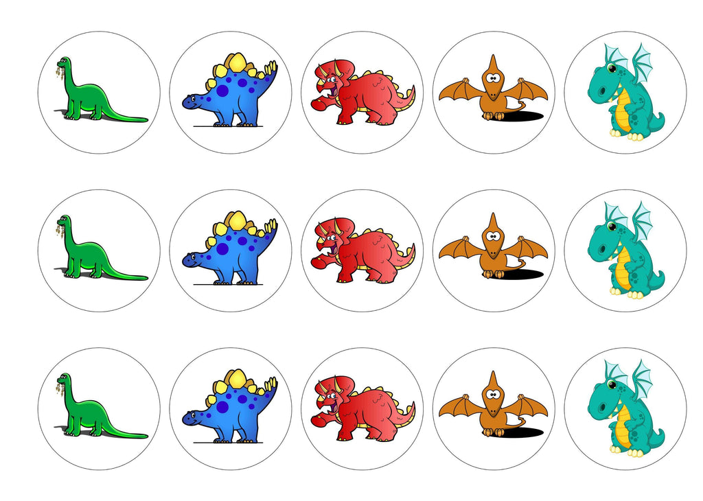 Cute Dinosaurs – My Cupcake Toppers