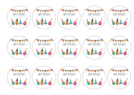 Cute birthday cupcake toppers