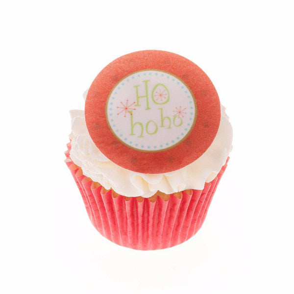 Edible Christmas Ho Ho Ho cake topper and cupcake topper printed onto rice paper or icing