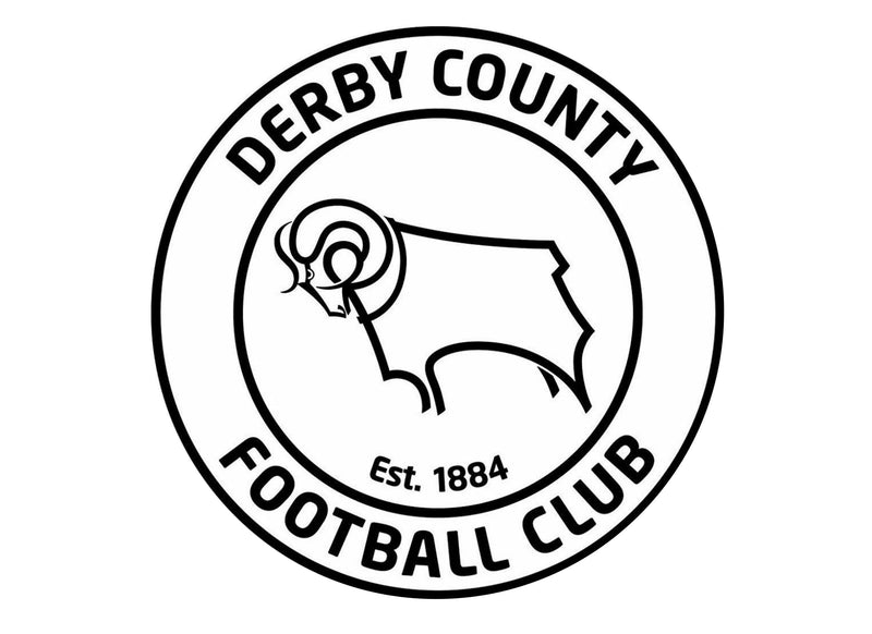 Large cake topper with the Derby County Badge