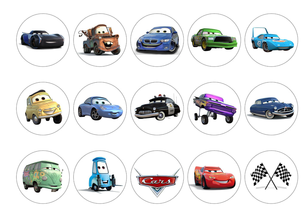Disney Cars My Cupcake Toppers