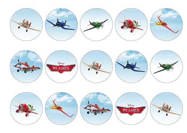 Printed edible cake toppers and cupcake toppers with images from Disney Planes