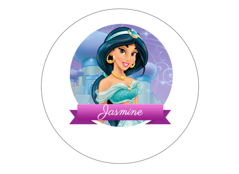 "Edible printed 7.5"" cake topper with Disney Princess Jasmine"