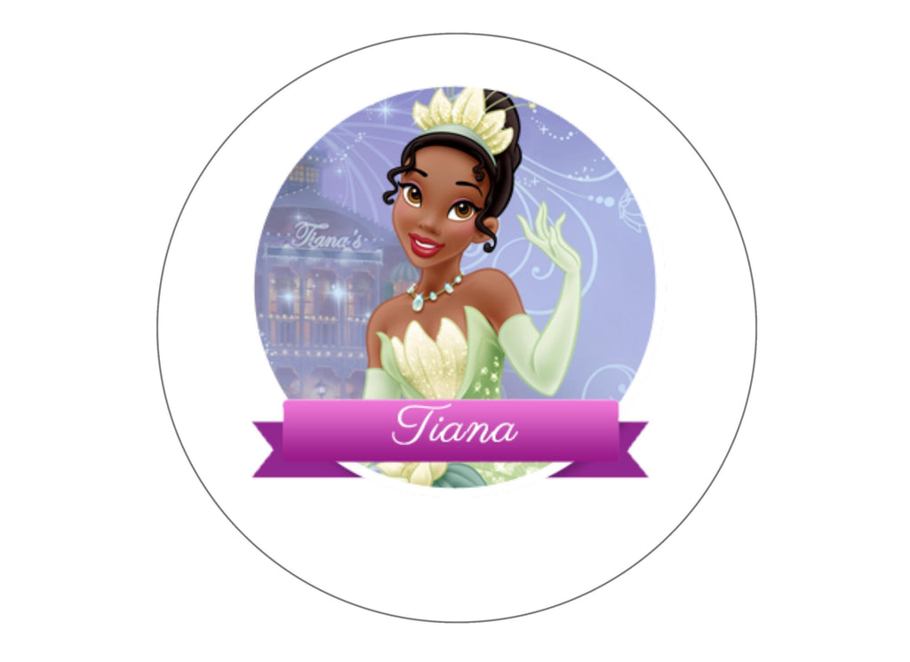 "Edible printed 7.5"" cake topper with Disney Princess Tiana"
