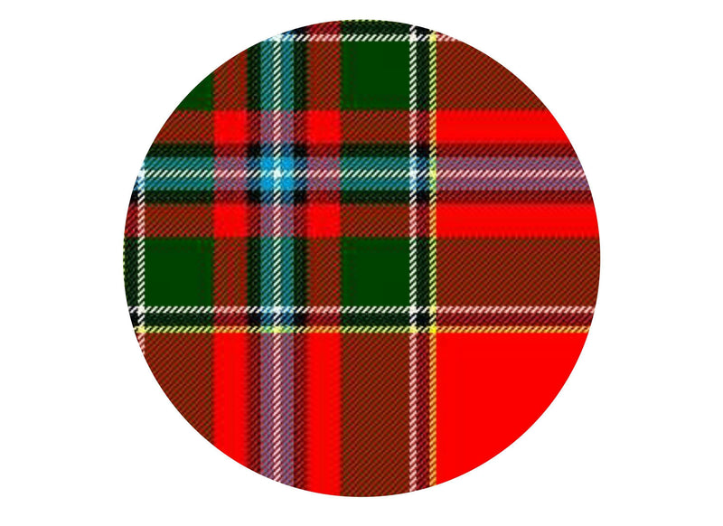 Printed edible cake topper with Drummond tartan