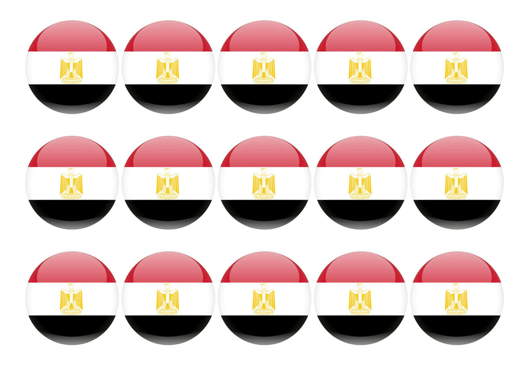 50mm printed edible cupcake toppers - Egypt