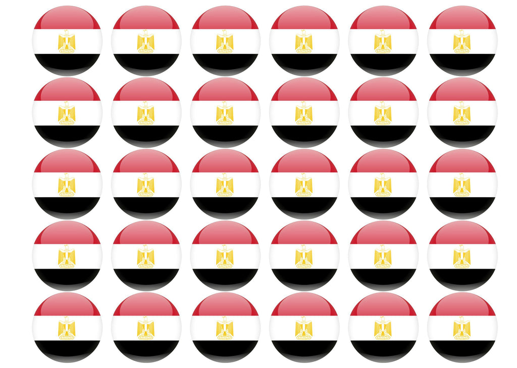 38mm printed edible cupcake toppers - Egypt