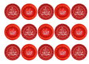 Printed edible Eid Mubarak cupcake toppers - Red