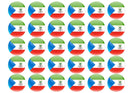 38mm printed edible cupcake toppers - Equatorial Guinea