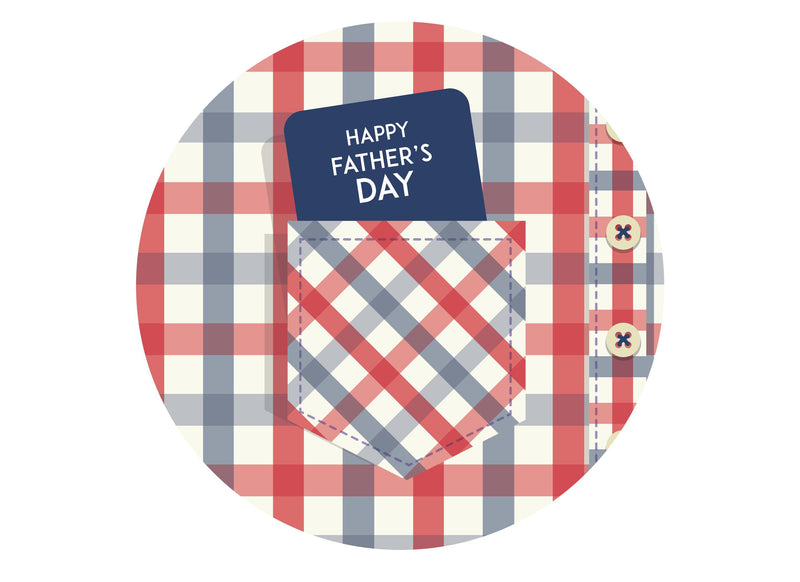 Large cake topper with Father's Day plaid design
