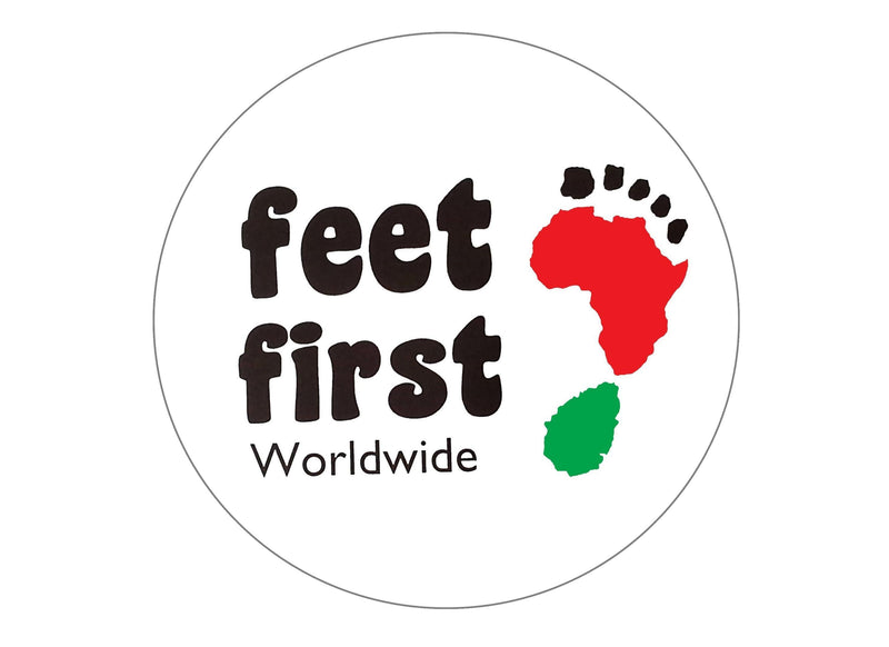 Printed edible charity cake toppers for Feet First Worldwide