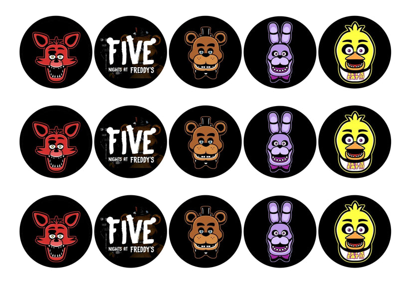 Five Nights at Freddy's-Edible cake toppers-Edibilis