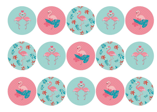 15 printed flamingo toppers