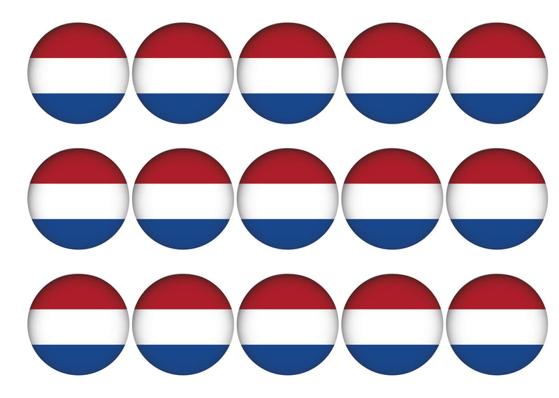 15 toppers with the Netherlands flag