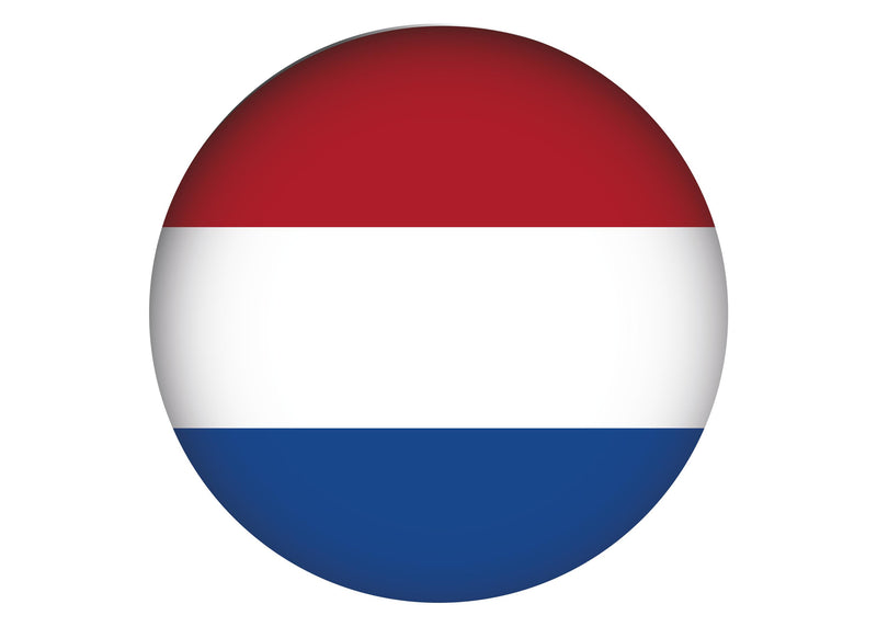 Large cake topper with the Netherlands flag