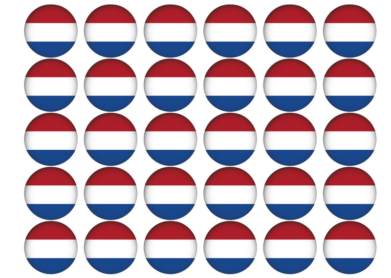 30 edible toppers with the netherlands flag