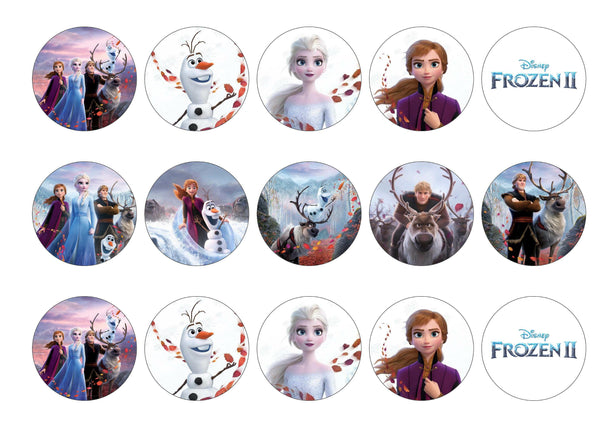 Frozen 2-Edible cake toppers-Edibilis