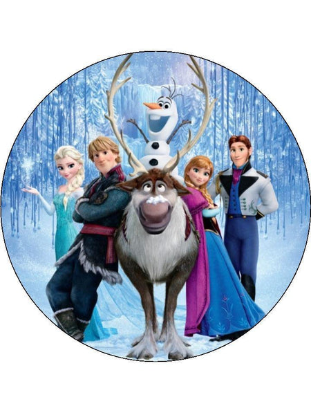 Cake toppers and cupcake toppers with images from the Disney movie Frozen