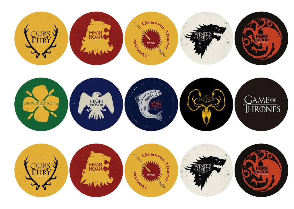 graphic regarding Printable Edible Cake Toppers identify Match of Thrones