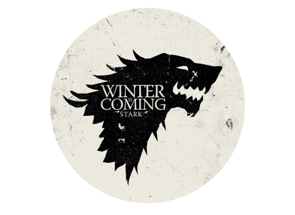 Printed edible cake topper with Game of Thrones (GOT) image - Winter is coming