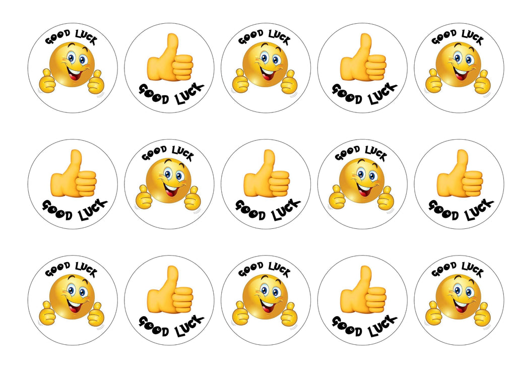 Good Luck Thumbs Up Emoji My Cupcake Toppers
